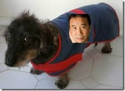 murakami on dog coat